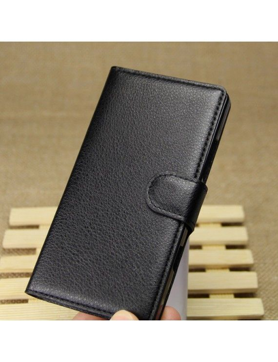 Δερμάτινη Θήκη Πορτοφόλι με Βάση Στήριξης για Nokia Lumia 930 / Lumia Icon 929 - Μαύρο