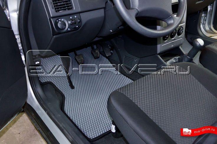 Лада Приора - коврики EVA-DRIVE. Водительский коврик, цвет серый с черной окантовкой.