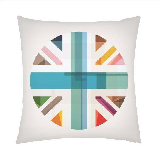 MultiCultural Britain pillow  #fimbis #ArtRookie #MultiCultural #Britian #unionjack #style #styleblog #fashion #fashionblogger #fashionblog #styleblogger #britishflag #flag #abstract #cushion #pillow #print #ukdesign #irishdesign #irishart #fblogger #softfurnishings #college #blue #red #interiors #interiordesign #homedecor #homestyle #digitalart
