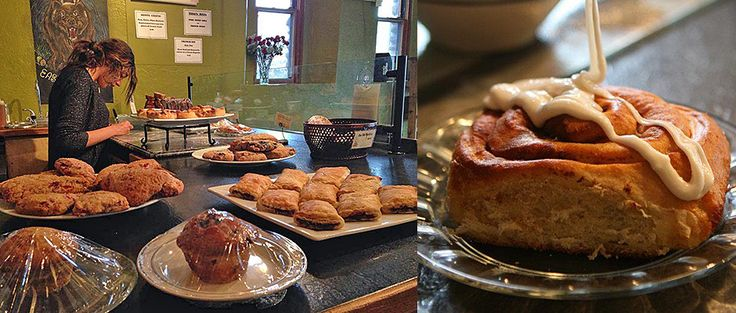 Wow, these pastries look absolutely delicious!  I would love to go to a little cafe that serves beautiful muffins and cinnamon rolls like this all the time.  If there was one near me, I would go all the time to help me relax in the middle of the work day!