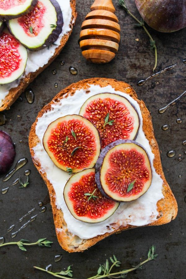 Honey & Thyme Ricotta with Fig Toast | www.asaucykitchen.com