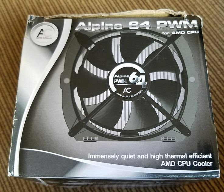 arctic alpine 64 pwm for amd cpu supports multiple sockets nib computerstablets