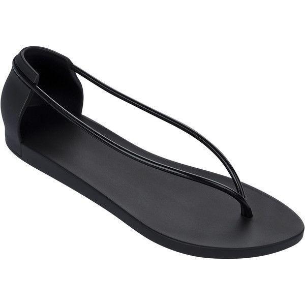 Ipanema Black Flip Flops - Ipanema Philippe Starck Thing N Fem Black (2,135 PHP) ❤ liked on Polyvore featuring shoes, sandals, flip flops, black, black sandals, ipanema, black flip flops, kohl shoes and ipanema sandals
