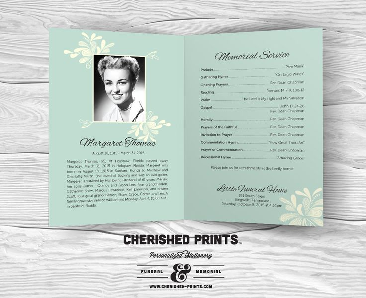 Best Funeral Cards Images On Pinterest Funeral Cards Program - Celebration of life template