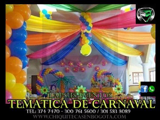 Tematica Carnaval de Barranquilla | Lapsus | Tel: 374 7470 | http://www.chiquitecasenbogota.com/2016/03/03/tematica-carnaval-de-barranquilla/