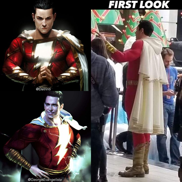Zachary Levis Shazam Looks like theyre going with the hooded cape like the art you see to the left by @datrinti & @georgeevangelista.  Follow @supercomichub  #avengers#blackwidow#blackpanther#infinitywar#batmanvssuperman#xmen#batman#superman#wonderwoman #deadpool #spiderman #hulk #thor#ironman#marvel#greenlantern#theflash#wolverine#daredevil#aquaman #justiceleague #barryallen #captainmarvel#zacharylevi#thanos #avengersinfinitywar #starlord #shazam#deathstroke#infinitywar