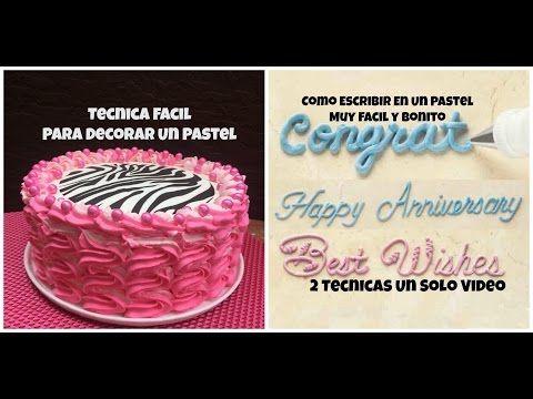 Tecnica de Decoración de Pastel En Chantilly Fácil - Madelin's Cakes - YouTube