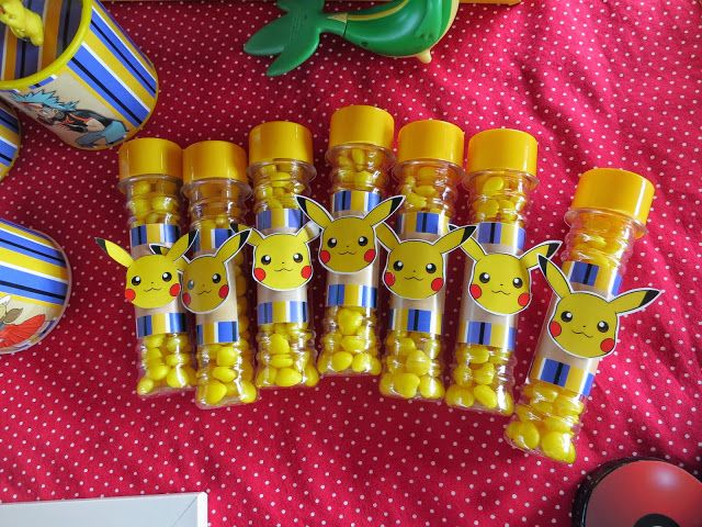 Lembrança Especial. Pokemon party pikachu