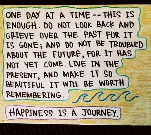 One day at a time... Happiness is a Journey!