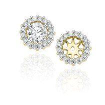 14k Yellow Gold 1 2 Ct Diamond Earring Jackets