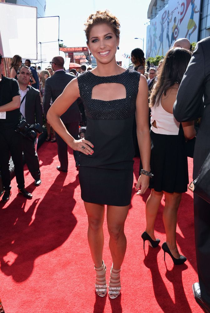 Alex Morgan dresses it up at the ESPYs