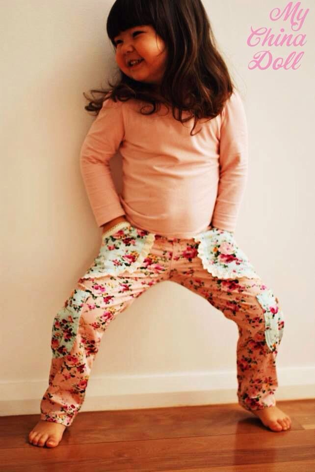 Pants: Sweetheart Cargo Pants PDF Pattern   Pattern by Pattern Emporium   http://www.patternemporium.com/  Pants made by 'My China Doll'