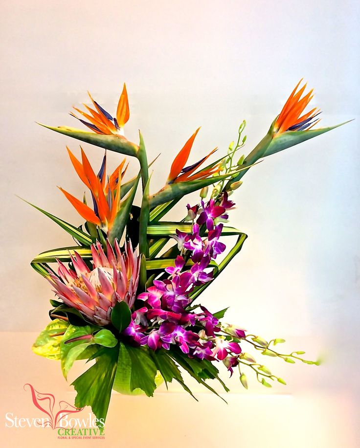 Shop Silk Bird Of Paradise And Anthurium Tropical: 1000+ Ideas About Tropical Floral Arrangements On