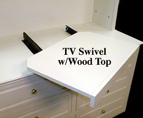 Pull Out Swivel Shelf TV Stand