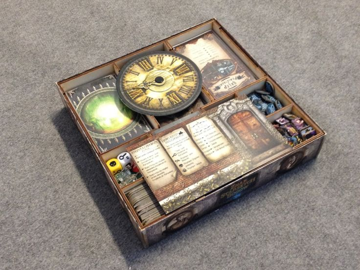 Elder Sign board game, wood insert to store all components, storage solution by BoardGamesFactory on Etsy https://www.etsy.com/listing/228727460/elder-sign-board-game-wood-insert-to
