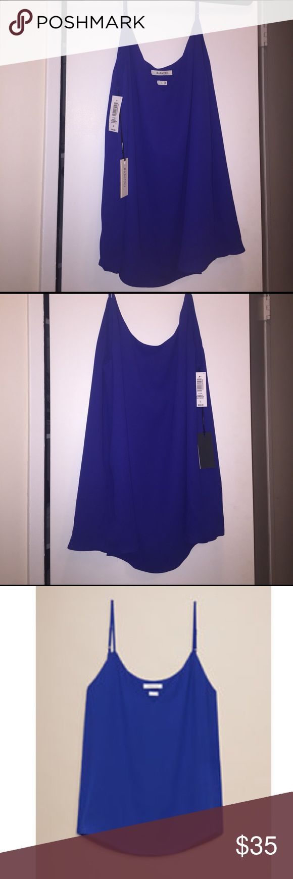 Everly camisole from aritzia Brand new with tags everly camisole in wild indigo from aritzia Aritzia Tops Tank Tops