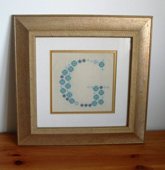 Cross stitch pattern Monogram Baptism by CraftwithCartwright