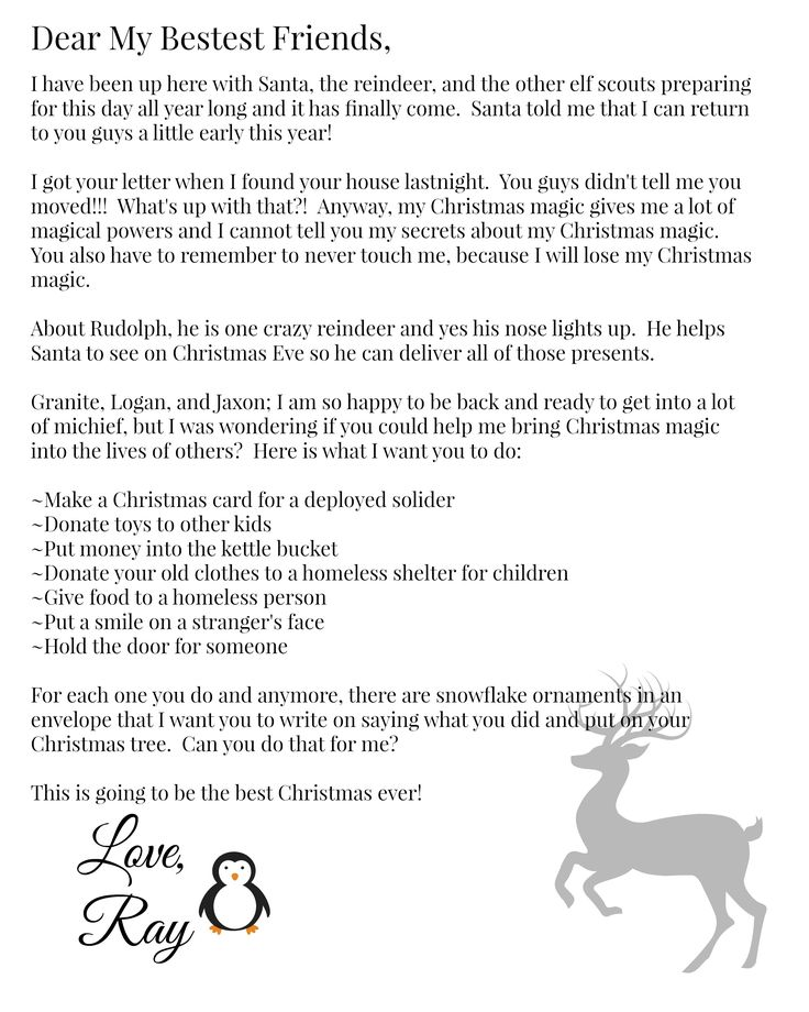 16 best Elf on the Shelf - Letters images on Pinterest - welcome letter
