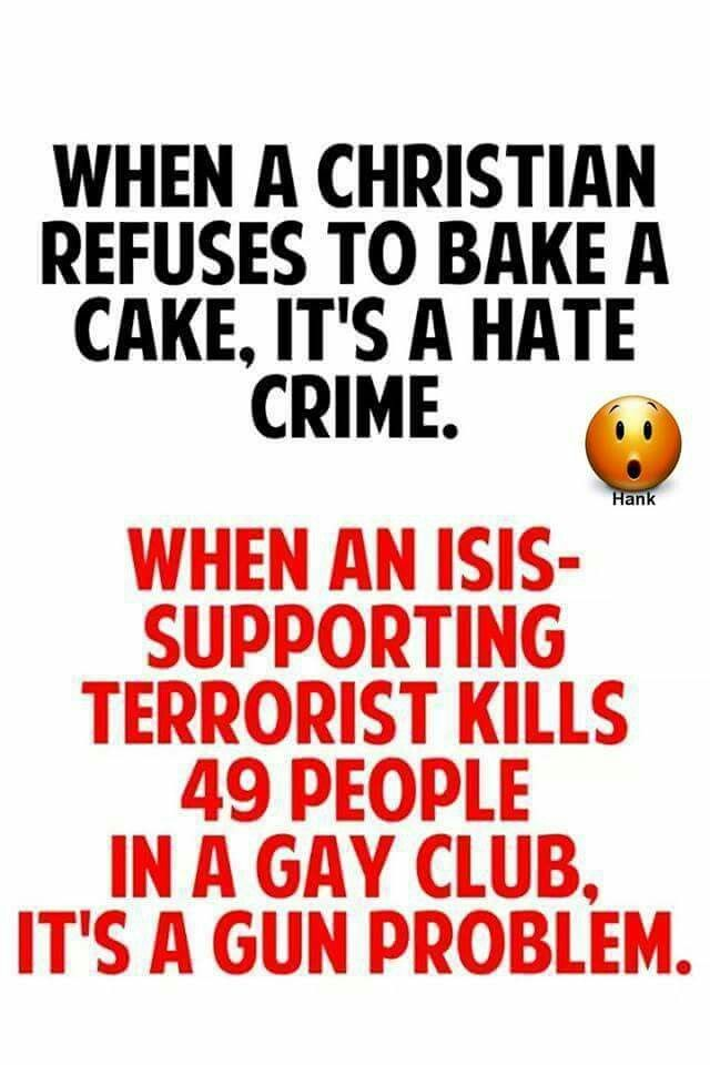 or ellen says a christian can't be on her show because of her beliefs but christian bakers have to bake a cake