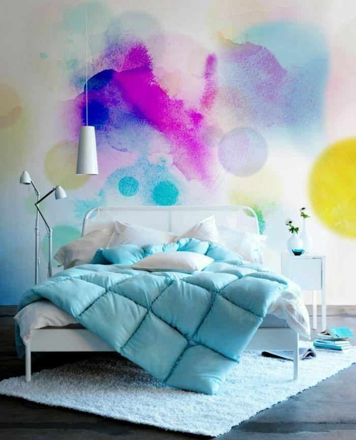 Mur coloré pour la chambre ado