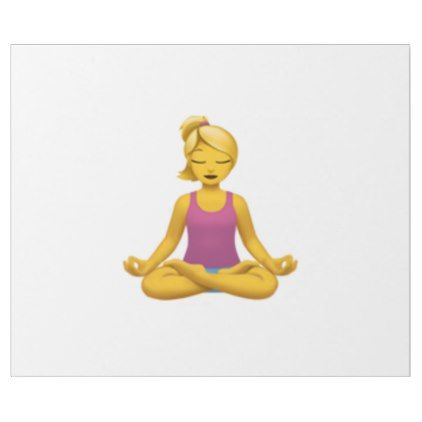 Woman in Lotus Position - Emoji Wrapping Paper - wrapping paper custom diy cyo personalize unique present gift idea
