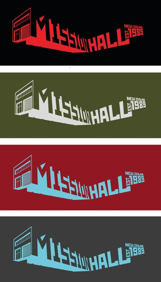Mission Hall Building - Customs graphic celebrating our studio shop.