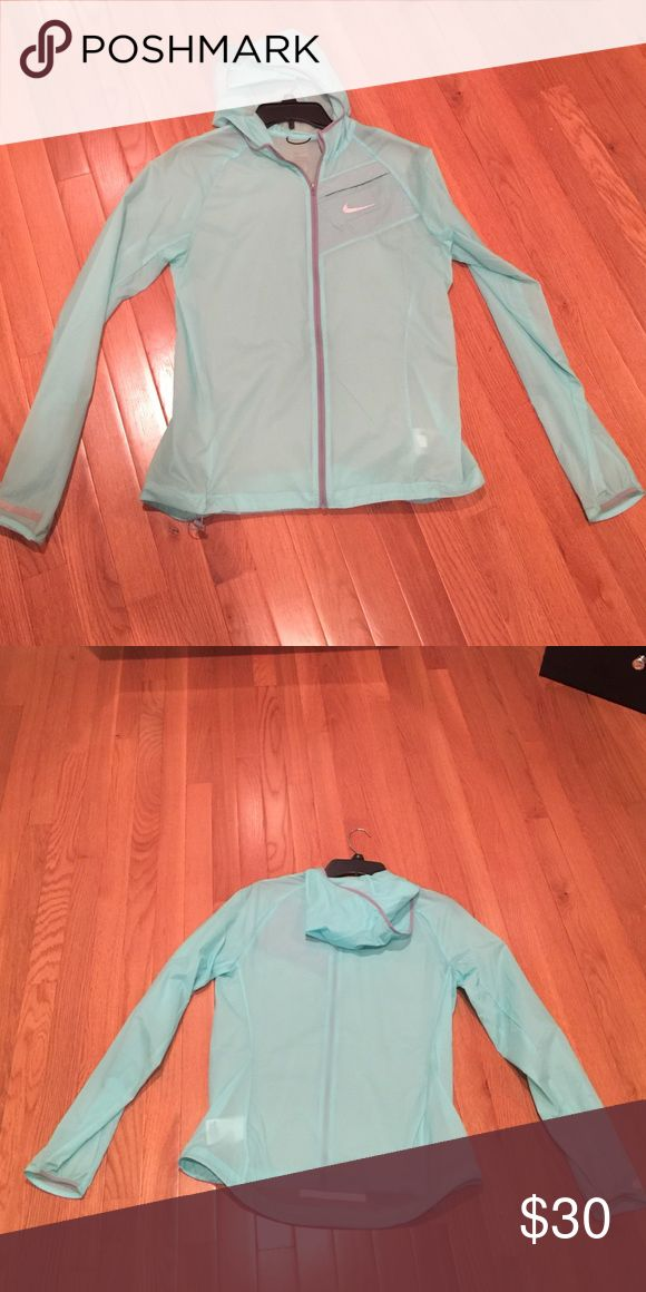 Nike running jacket Zip-up hooded running jacket. Worn twice Nike Jackets & Coats