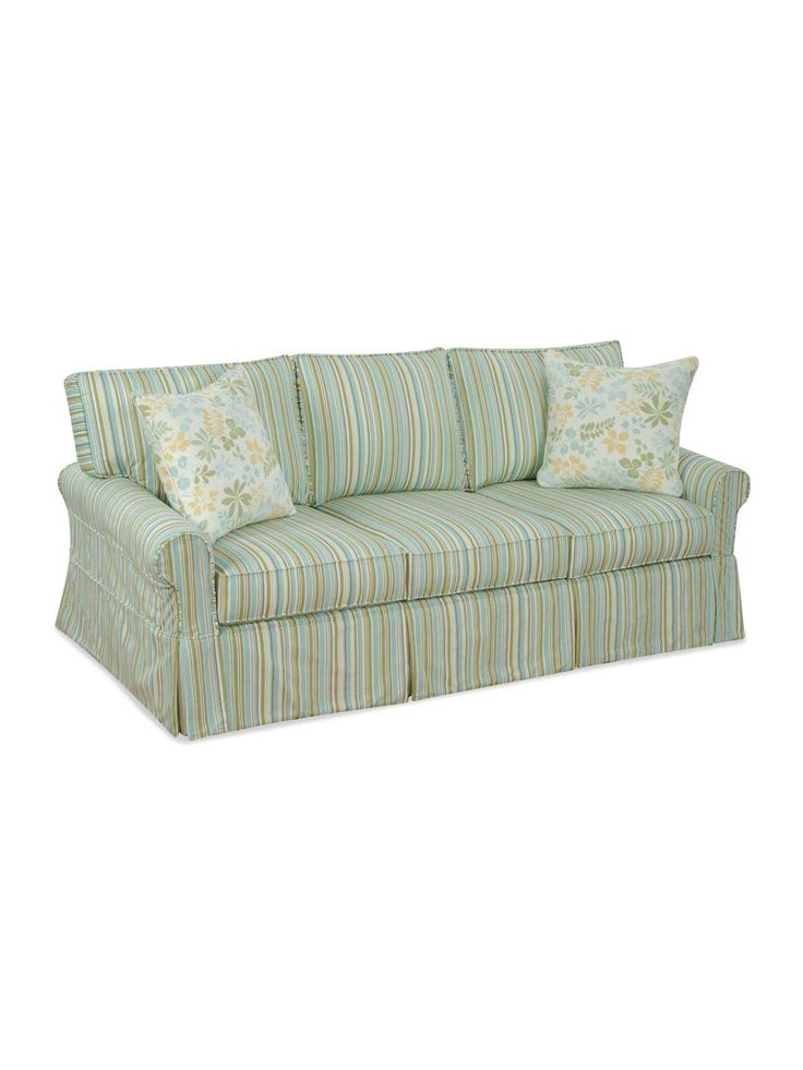Shoreline Slipcovered Furniture, Kittery Slipcovered Sofa, Three Seats,  Drapper Robinsegg, Foxy Robinsegg