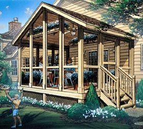 Screened Porch--- I would really love one of these. Especially to just sit and listen to the rain.