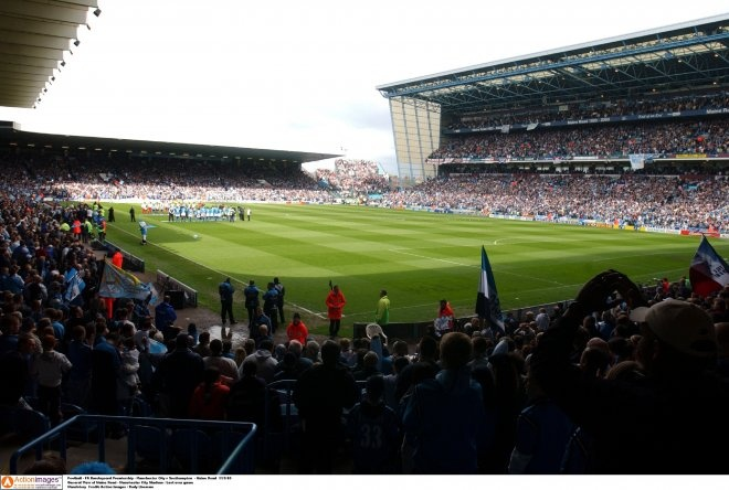 Maine Road, home of Manchester City before they moved to the City of Manchester Stadium