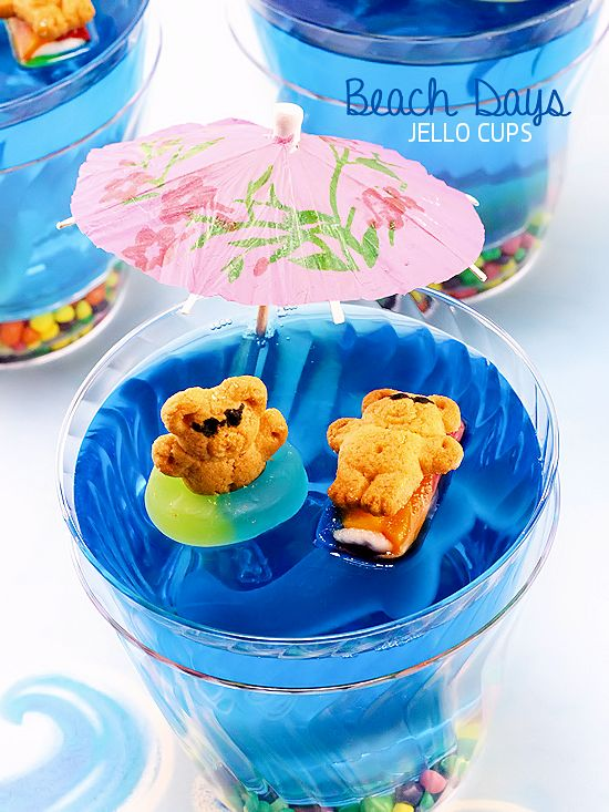 Beach Days Jello Cups Fun Food Idea, Kid Food, Summer Recipe