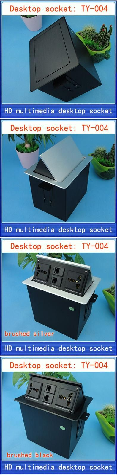 Desktop socket /hidden Multimedia network socket multimedia information box outlet /network RJ45 interface desktop socket TY-004