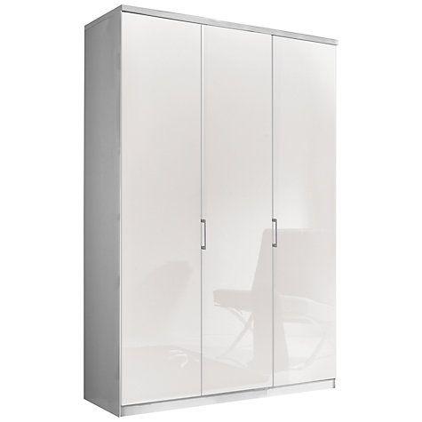 Buy John Lewis Elstra 150cm Wardrobe with Glass Hinged Doors Online at johnlewis.com