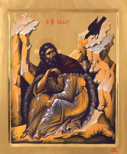 Святой Пророк Илия. Икона написана в мастерской афонского монастыря Ватопед.