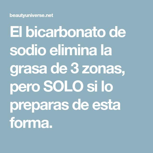 El bicarbonato de sodio elimina la grasa de 3 zonas, pero SOLO si lo preparas de esta forma.