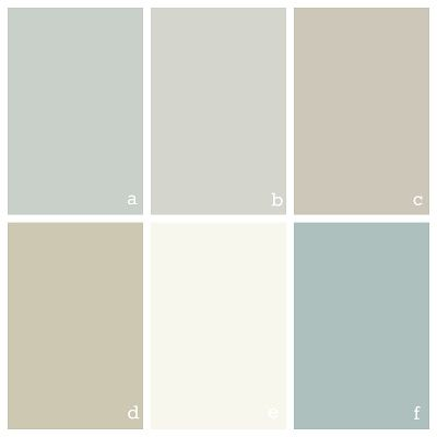 Color scheme for a house - Benjamin Moore Quiet Moments, Gray Owl, Revere Pewter, Camouflage, Simple White, and Wedgewood Gray