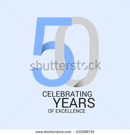 50 years anniversary, signs, symbols. simple design.