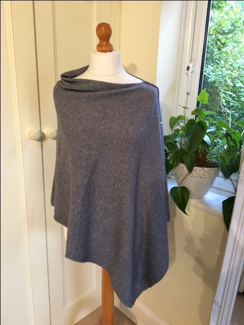 2 way poncho - Light Grey via Avenue 57. Click on the image to see more!