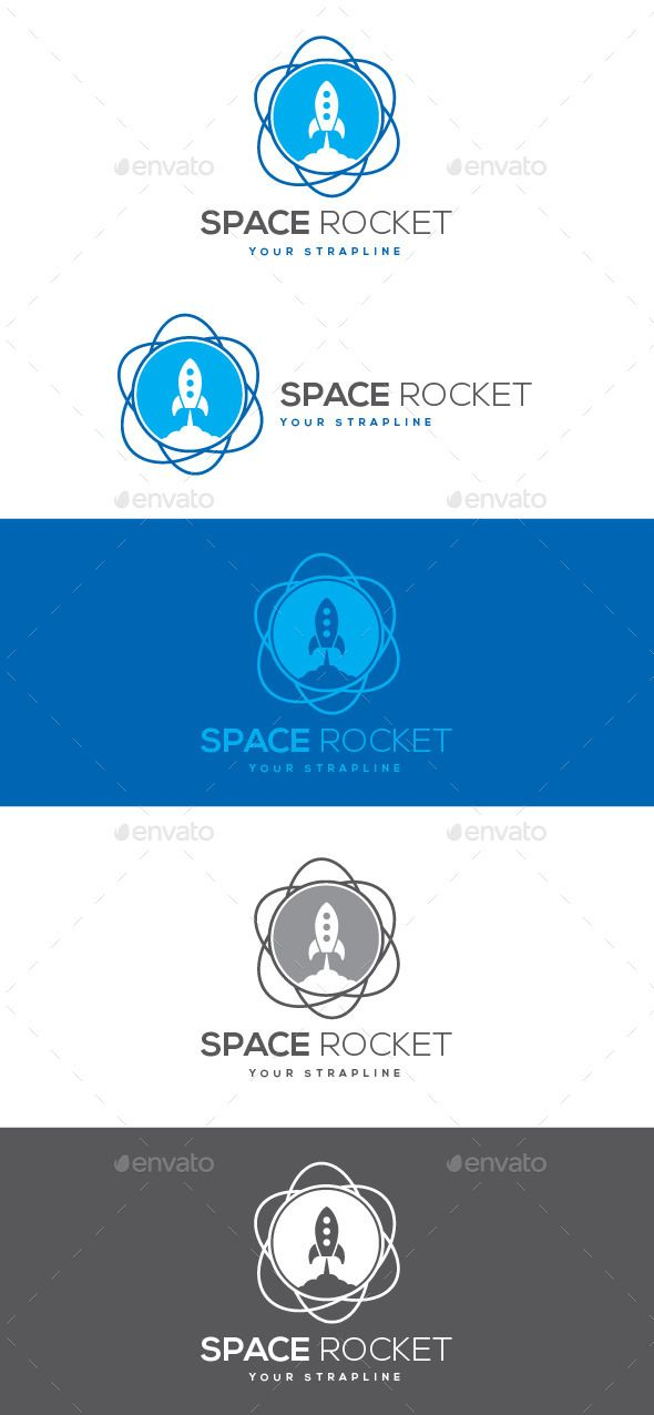 Space Rocket Logo — Vector EPS #take off #creative • Available here → https://graphicriver.net/item/space-rocket-logo/9088659?ref=pxcr