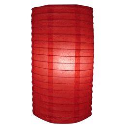 "8"" Red Cylinder Paper Lantern"