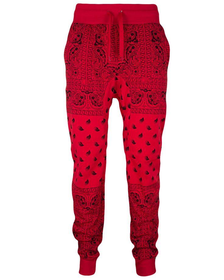 Para Hombre Polar Bandana Estampado Chándal Con Cordón Pantalones Basculador s 2XL | eBay