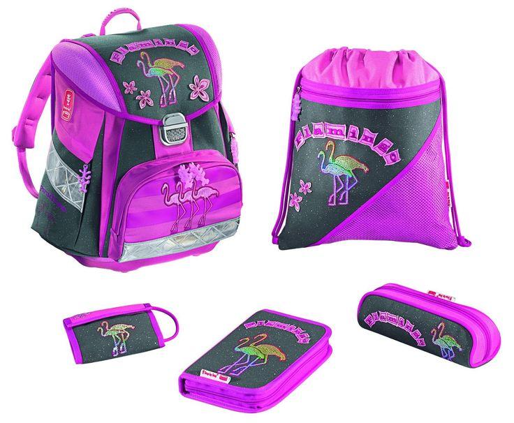 """Hama 25948 - Step by Step Touch Schulranzen-Set """"Flamingo"""", 5-teilig: Amazon.de: Koffer, Rucksäcke & Taschen"""