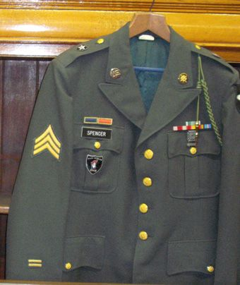 Imjin Scout badge worn on Dress Greens