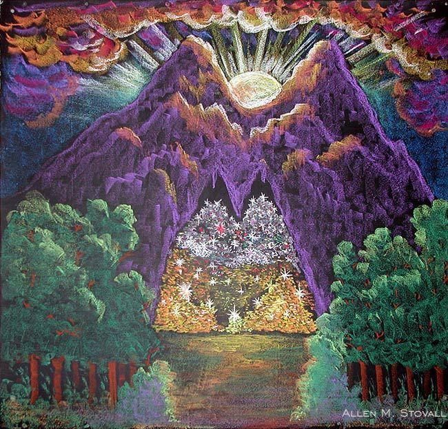 Waldorf ~ 1st grade ~ Language Arts ~ Fairy Tales ~ Simeli Mountain ~ chalkboard drawing