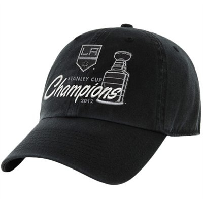 47 Brand Los Angeles Kings 2012 NHL Stanley Cup Final Champions Slouch Adjustable  Hat - Black  0cb7ca695814