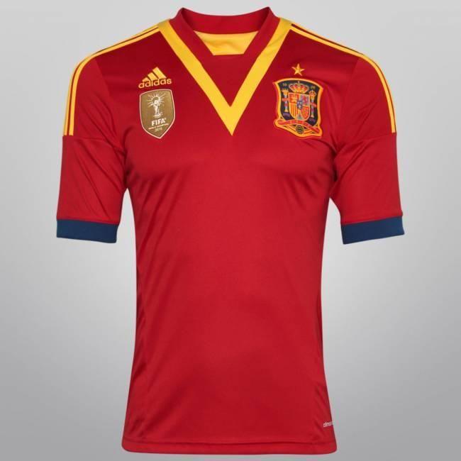 Netshoes –  Camisa Adidas Seleção Espanha Home 2013 - http://batecabeca.com.br/netshoes-camisa-adidas-selecao-espanha-home-2013-netshoes.html