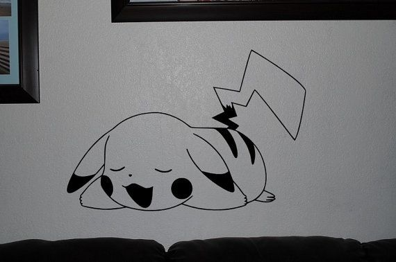 Pikachu Pokemon wall decals anime mural arts by OneDesignArt