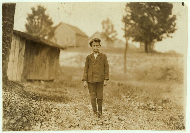 Eugene Bell, 12 years old. Worked for two years at Loray Mill, Gastonia North Carolina. Photo by Lewis Hine.
