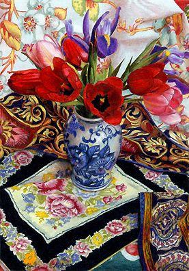 "Barbara Edidin ~ ""Spring Follows Winter"" ~  Colored Pencil Drawing"
