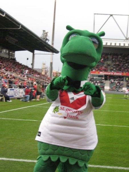 """Happy Dragon"" the St George Illawarra Football Team Mascot"